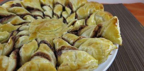Etoile feuilletée banane & chocolat