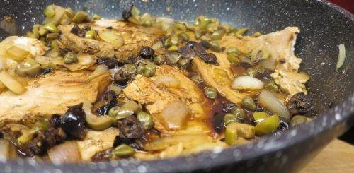 Thon frais aux olives