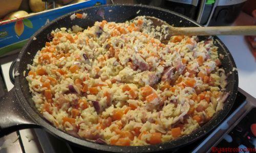 Riz au curry et aux carottes