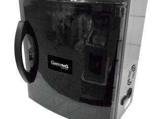 svart stående kammarvakuummaskin sedd snett framifrån
