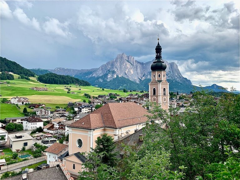 Villages such as Castelrotto (or Kastelruth) dot the region and make a wonderful base in the Dolomites