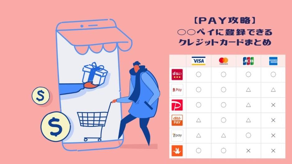 各ペイ登録できるクレジットカード