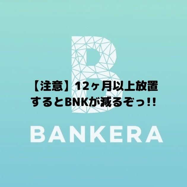 12ヶ月以上放置するとBNKが減る?「BNK Inactivity Fee」とは?|Bankera