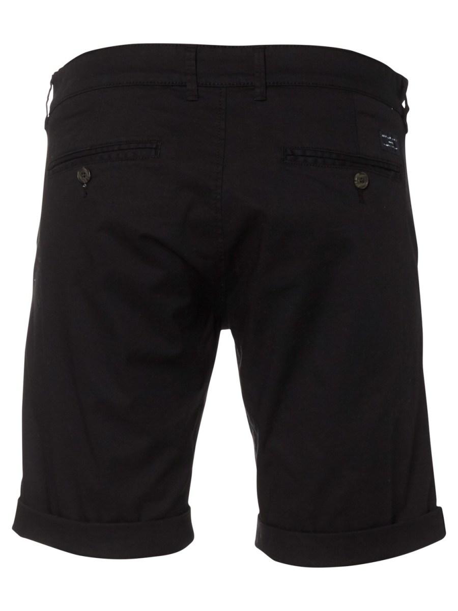 SELECTED - Ryan Straight Shorts Black   Gate 36 Hobro