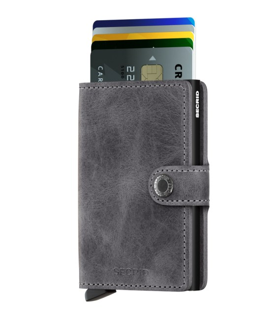 Secrid Miniwallet - Vintage Grey/Black | Gate 36 Hobro