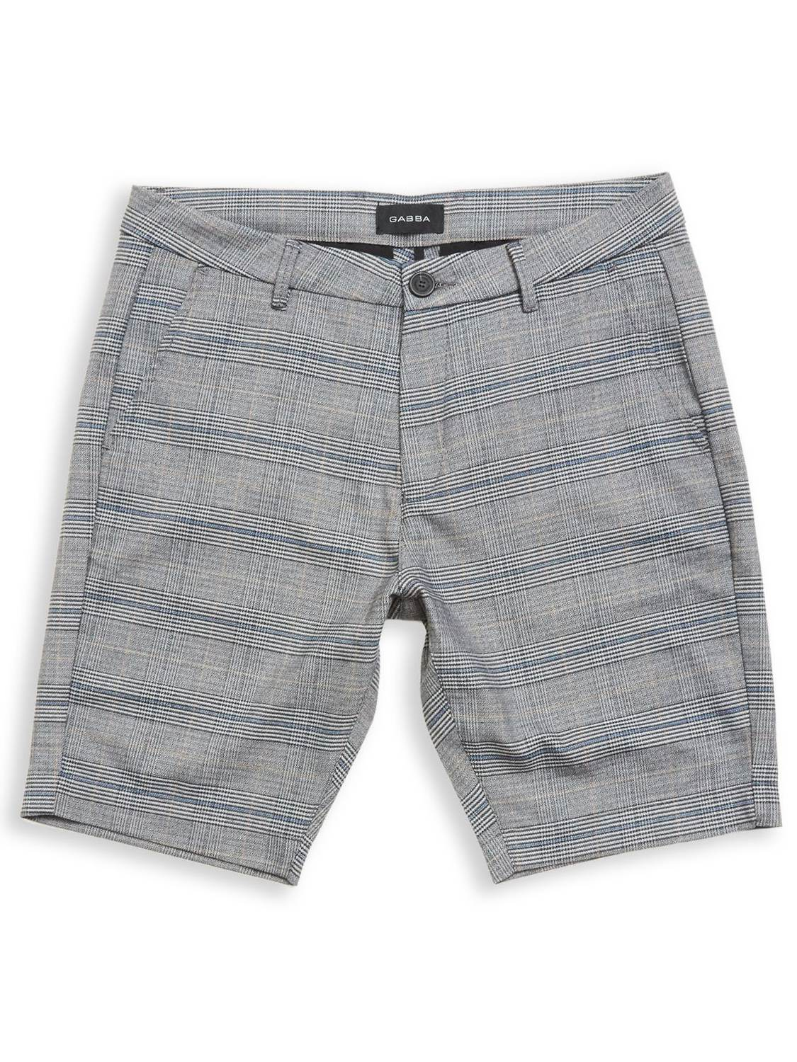 GABBA Jason Chino Shorts English Grey Check | GATE36 Hobro