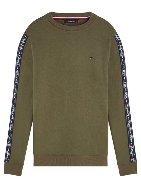 TOMMY HILFIGER Sweat Track Top Army | GATE36 Hobro