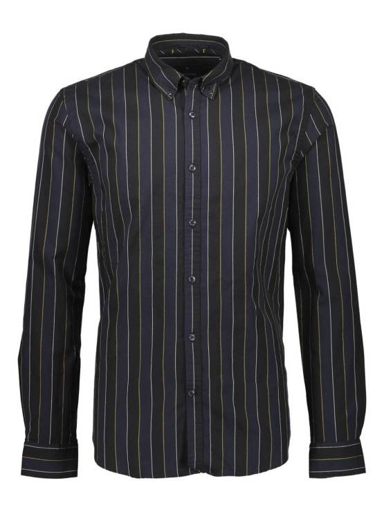 Junk de Luxe Skjorte Strip Black | GATE36 Hobro