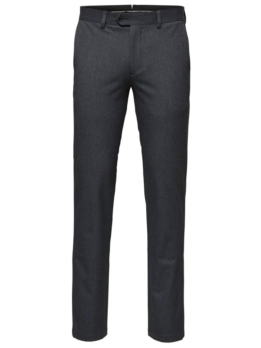 SELECTED Slimfit Bukser Grey   GATE36 Hobro