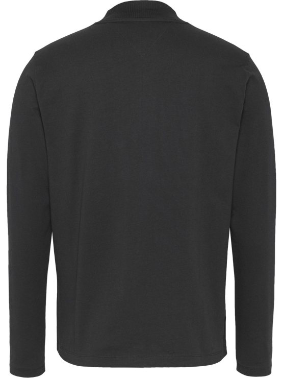 TOMMY HILFIGER MOCK NECK Black | GATE36 Hobro