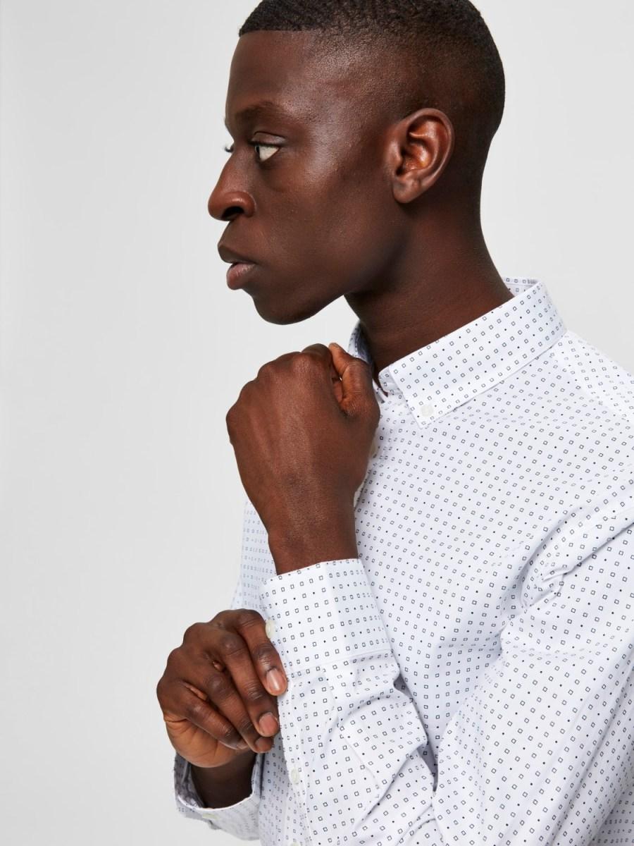 Selected Skjorte - Slim Scandic White Mix   GATE36 Hobro