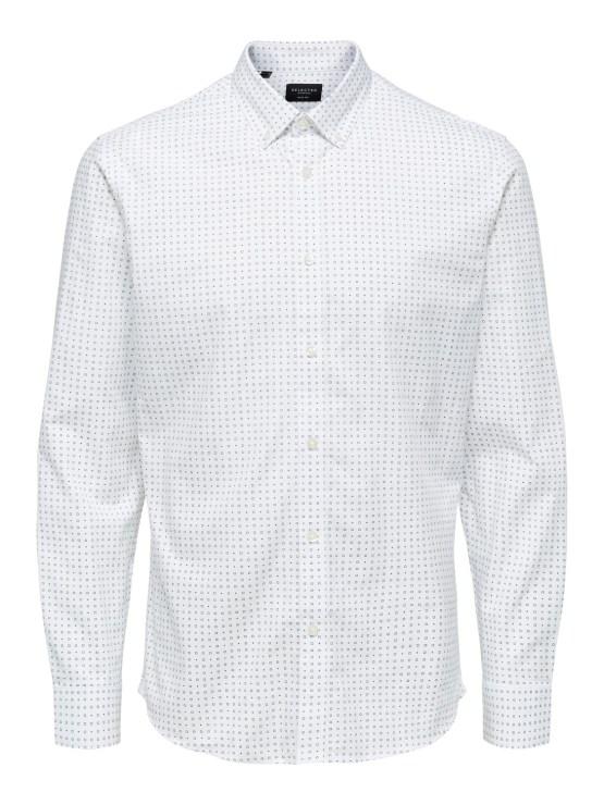 Selected Skjorte - Slim Scandic White Mix | GATE36 Hobro