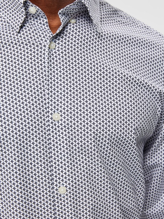 Selected Skjorte - Slim Michigan AOP | GATE36 Hobro