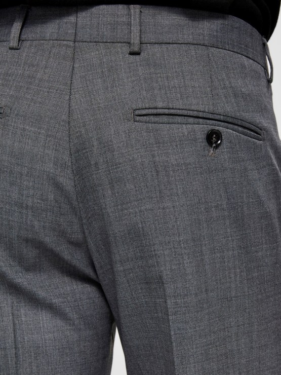 Selected Bukser - Slhslim flex Grey