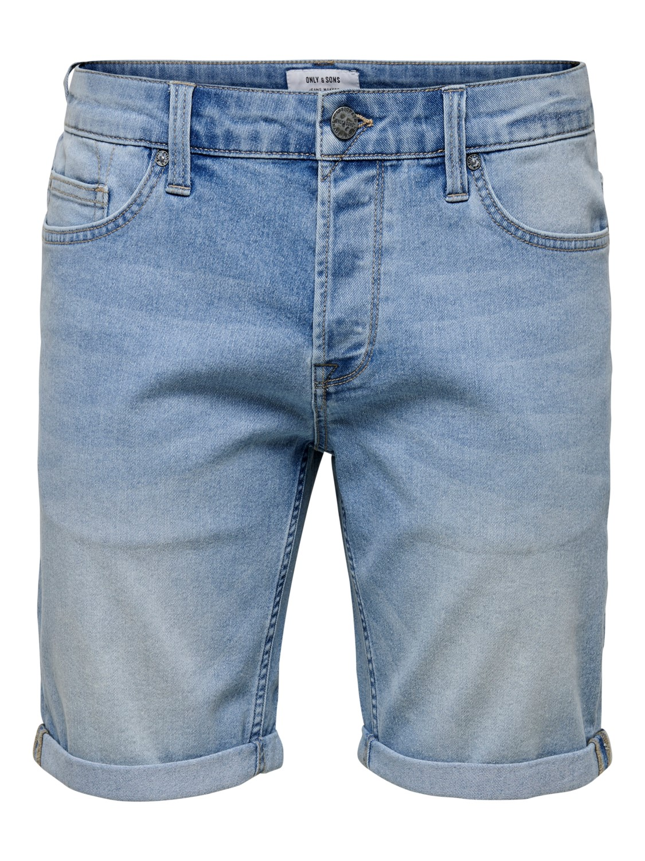 Only & Sons - blue denim shorts | Gate36 Hobro