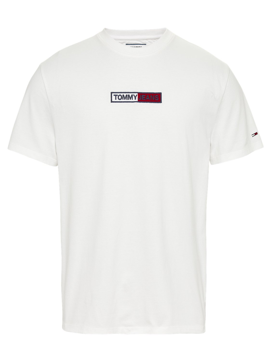 TOMMY HILFIGER - T-shirt Box Logo White | GATE 36 Hobro