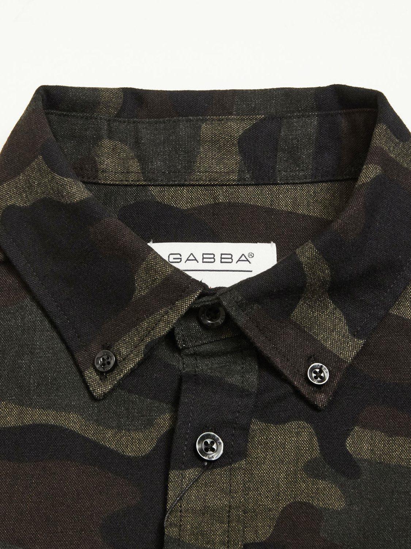 GABBA ATLANTA ABSTRACT CAMOUFLAGE SHIRT BLACK | GATE 36 Hobro