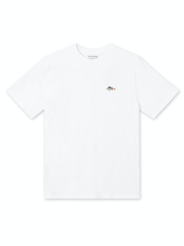 FORÉT - FISH T-SHIRT WHITE | GATE36 HOBRO