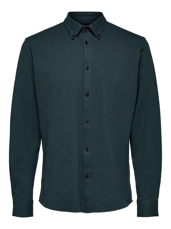 Selected Skjorte - Slhslimavenue-knit darkest spruce | Gate36 Hobro