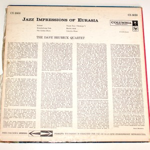 Dave Brubeck Quartet Jazz Impressions of Eurasia Vinyl Record