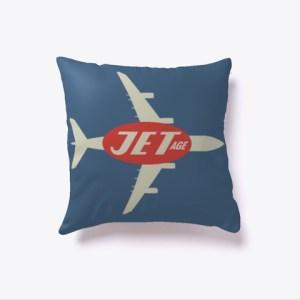 Jet-Age Retro Style Pillow