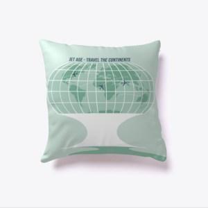 Retro Globe Pillow