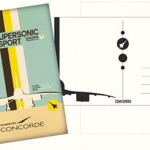 Concorde Super Sonic Transport SST New Retro Style Postcard