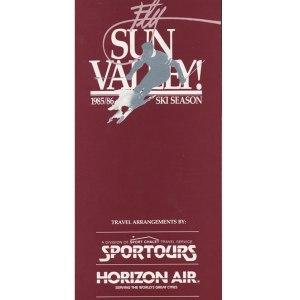 Horizon Air Ski Season Timetable 1985/86