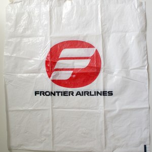 Vintage Frontier Airlines in-Flight Shopping Bag