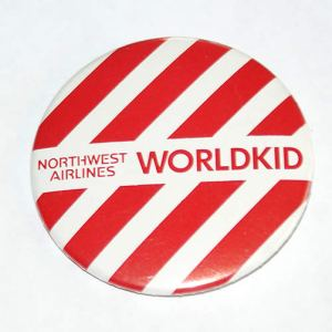 Northwest Airlines UM World Kid Button