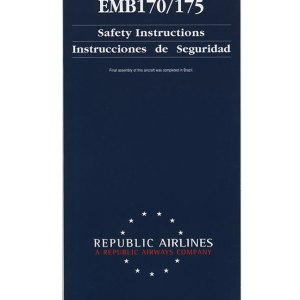 Republic Airlines Emb 170/175 Emergency Safety Card 7/21/09