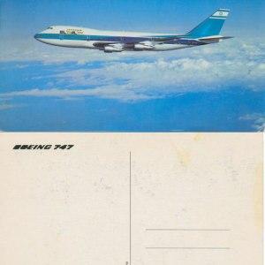 Vintage El Al Boeing 747 Postcard