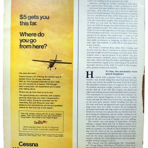 Cessna Aircraft Advertisement, 1970