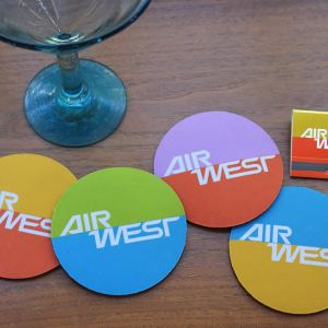 AIR WEST Fiesta Colors Coaster Set