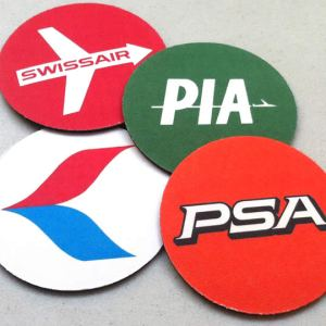 Retro Airline Drink Coaster Set – Sample Pack 2