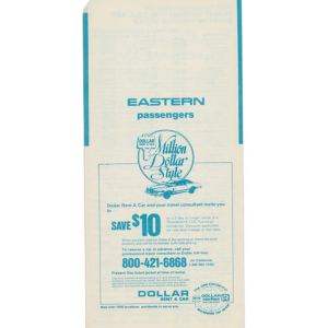 Eastern Air Lines Ticket Envelope