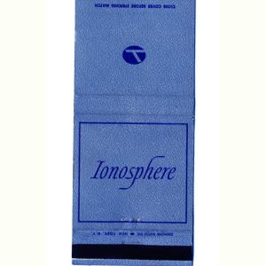 Eastern Airlines IONOSPHERE Matchbook Cover (Blue)