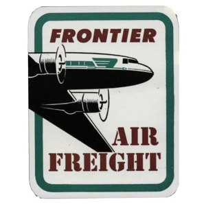 Frontier Airlines Air Freight Sticker