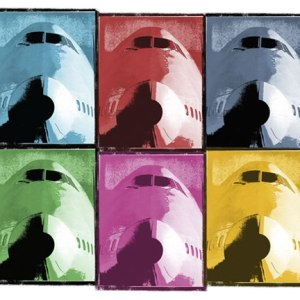 Warhol Style Classic Jumbo Airliner