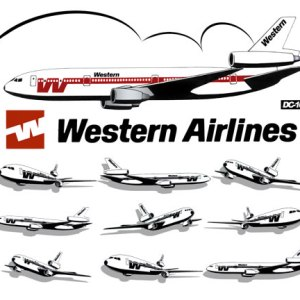 Western Airlines DC-10