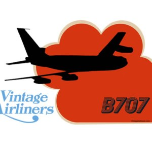 Vintage Airliners Jet-Age Airplane Oh Seven