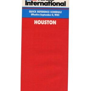 Texas International Timetable, Houston 1982
