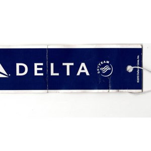 Delta Airlines Passenger Luggage Tag