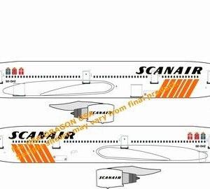 Scanair DC-10-10 Sun Jet SE-DHZ Vintage Airline Livery