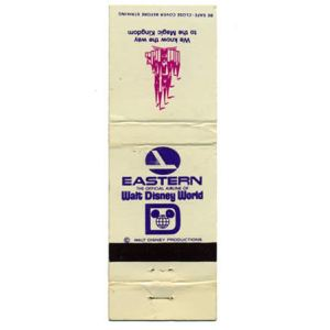 Eastern Airlines DISNEY Matchbook Cover
