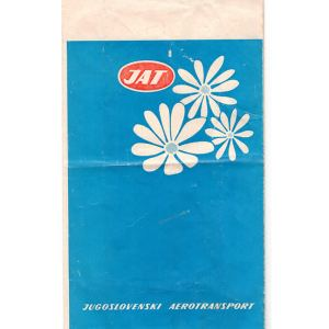 JAT Airways Air/Motion Sickness Bag RARE