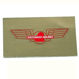 Southwest Airlines Jr. Pilot Wings – Gold Sticker