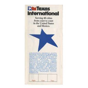 Texas International Boarding Pass Jacket Envelope (46c)
