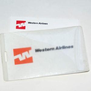 Western Airlines Blank Unused Lanyard Sleeve