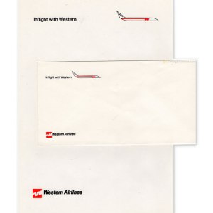 Western Airlines InFlight Envelope and Memo Letterhead